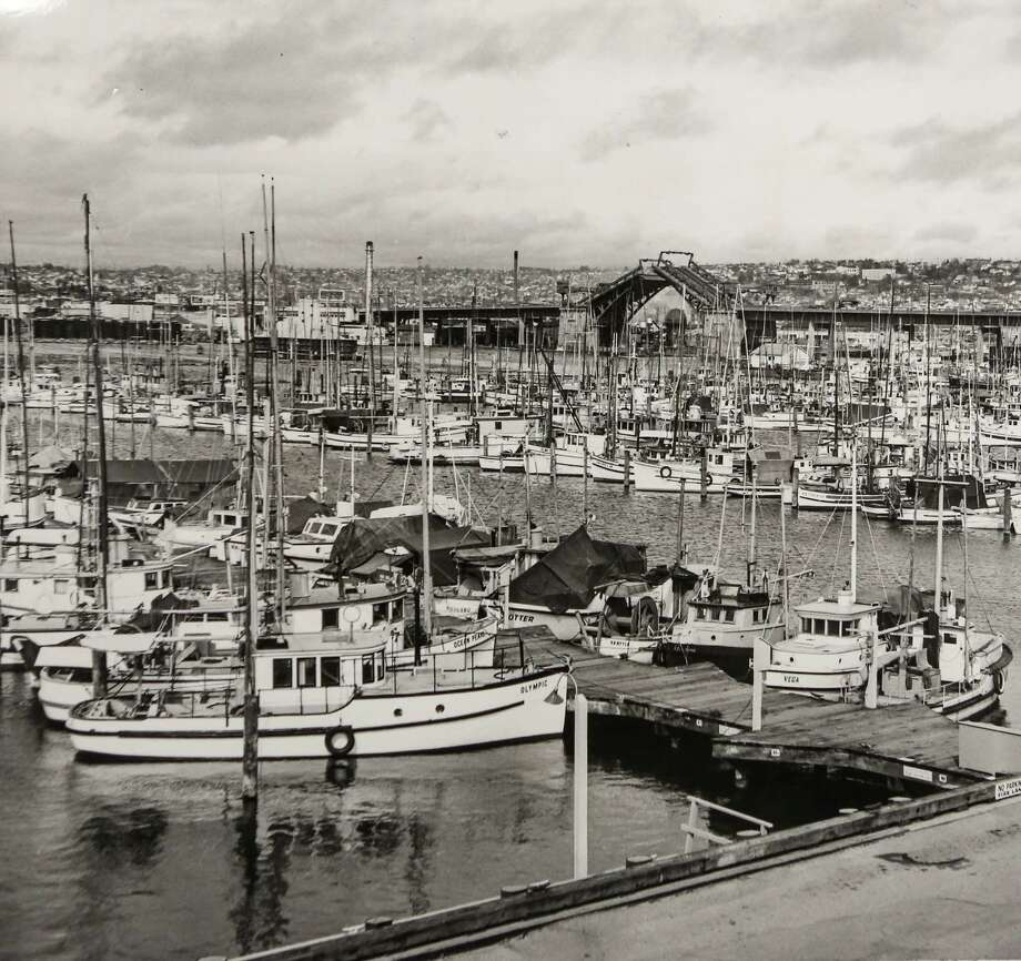 August 3, 1963Fishing fleet at foot of Ballard Bridge.  Photo: FILE PHOTO, SEATTLEPI.COM / SEATTLEPI.COM