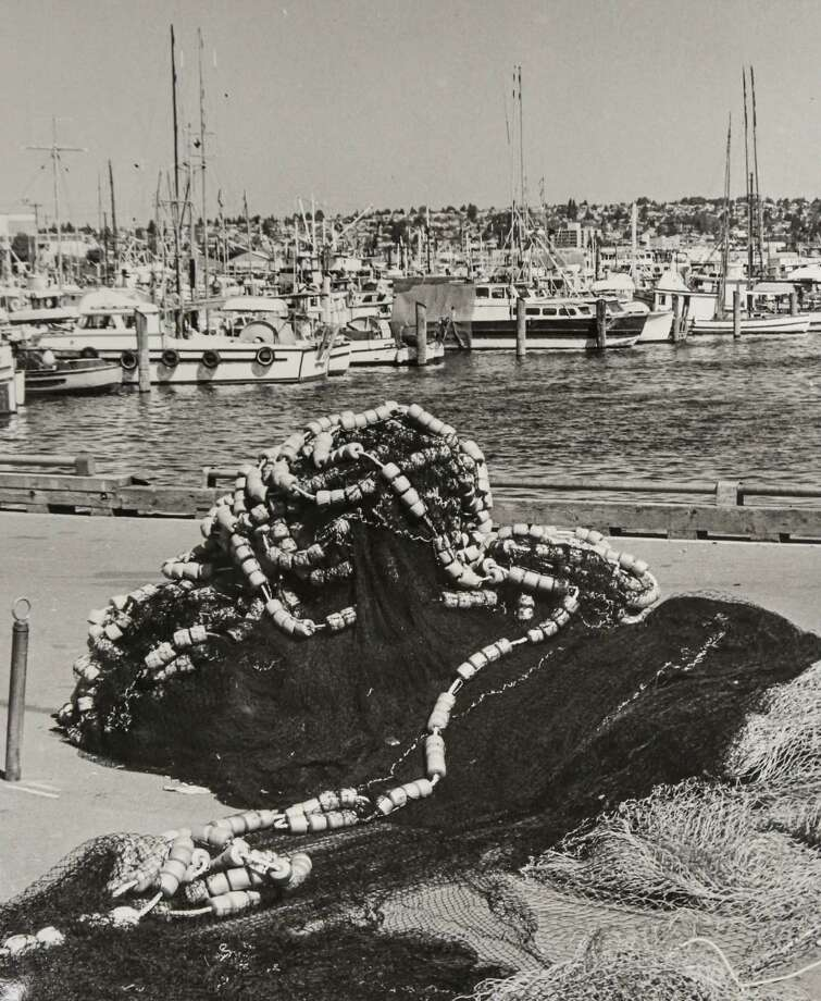 April 27, 1980 A net lies idle at Fishermen's Terminal.  Photo: FILE PHOTO, SEATTLEPI.COM / SEATTLEPI.COM