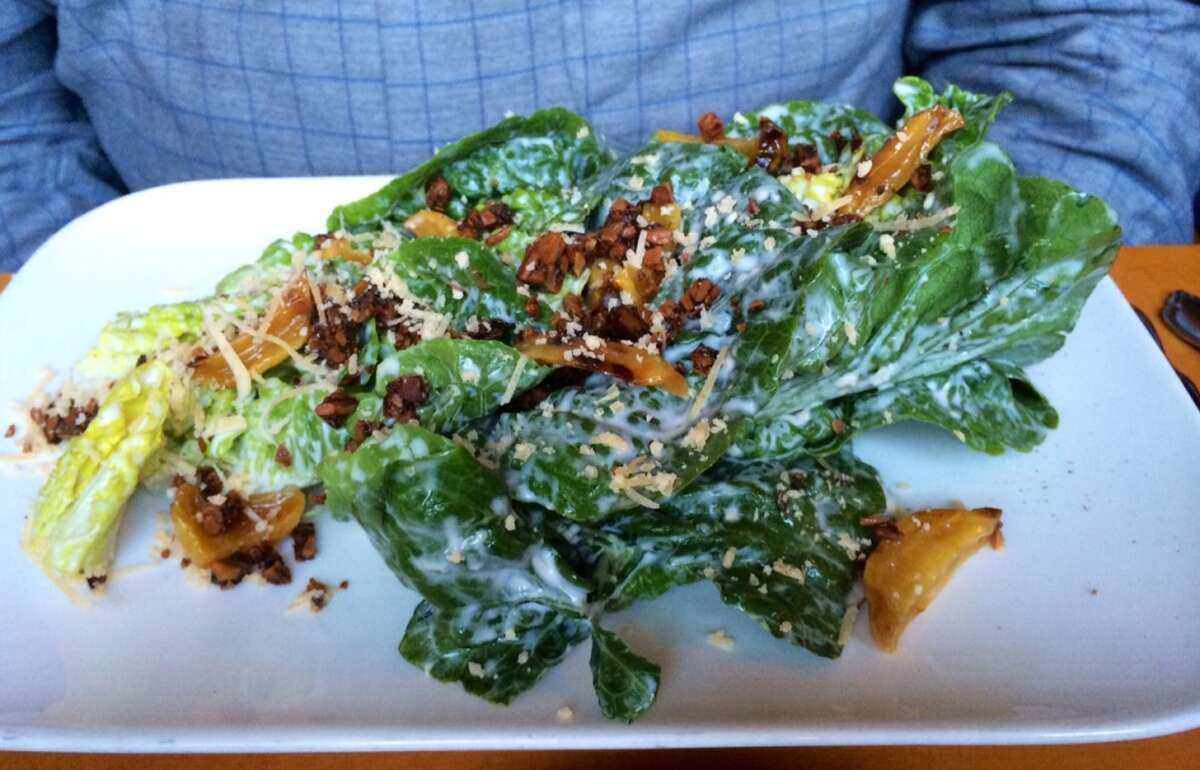 Little gem salad with smoked Gouda vinaigrette and toasted nut and seed crumble ($10.50)
