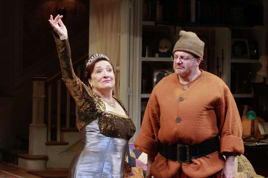 """Sharon Lockwood stars as Sonia and Jeffrey Bean stars as Vanya in Alley Theatre's Houston premiere of """"Vanya and Sonia and Masha and Spike."""" Photo: Gary Fountain, Freelance / Copyright 2014 by Gary Fountain"""