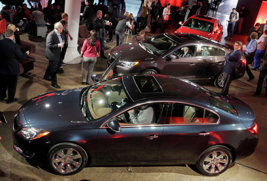 The 2014 Buick models are displayed at the New York Auto Show in 2013. The General Motors brand cracked the Consumer Reports top 10. Photo: Richard Drew / Associated Press / AP