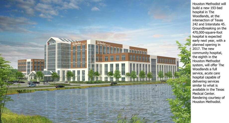 Methodist's new 193-bed hospital is the latest announced for The Woodlands. / ONLINE_YES
