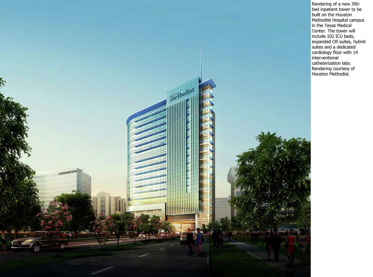 Houston Methodist plans to build a 390-bed inpatient tower on its Medical Center campus.