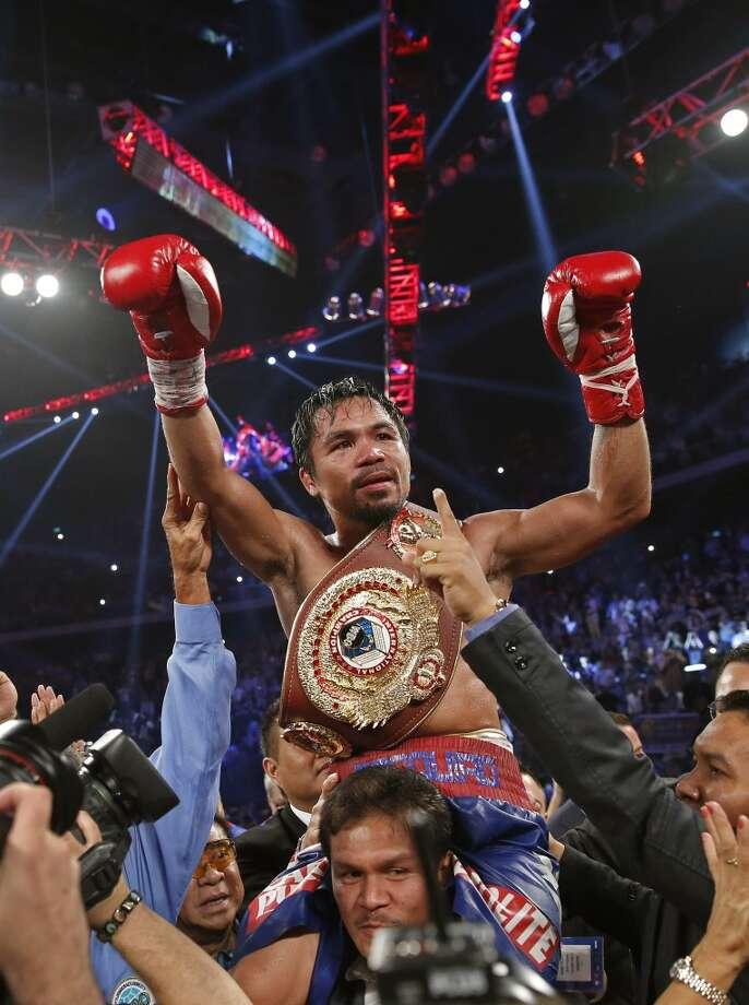 15. Manny PacquiaoWinnings: $26 million Endorsements: $8 millionTotal: $34 million Photo: Vincent Yu, Associated Press