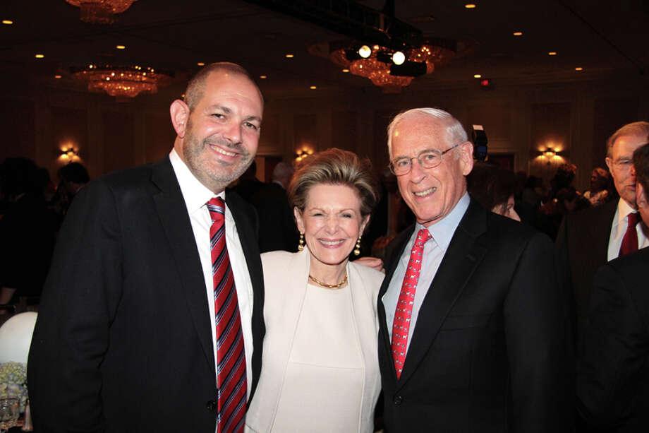 Shawn Hurwitz, Barbara Hurwitz and Dr. John Mendelsohn Photo: Pete Baatz / ONLINE_YES