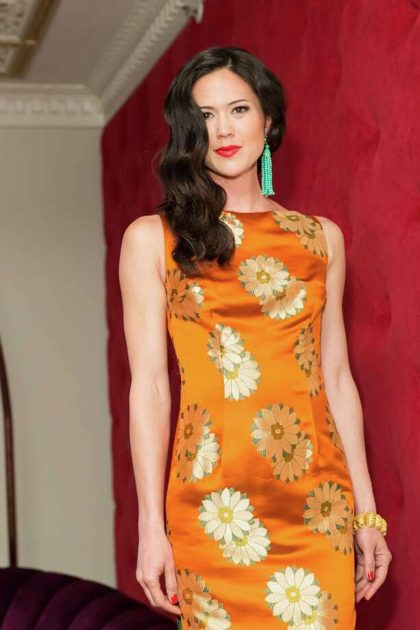 A model displays a Karen Caldwell design during the debut party of The Scarlet Huntington in San Francisco on May 22, 2014. Photo: Drew Altizer, Drew Altizer Photography / Drew Altizer Photography