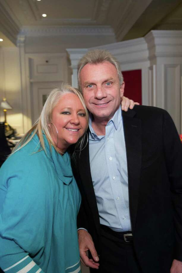 Lori Puccinelli Stern and Joe Montana at the debut party of The Scarlet Huntington in San Francisco on May 22, 2014. Photo: Drew Altizer, Drew Altizer Photography / Drew Altizer Photography