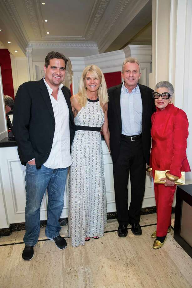 Peter Stern, Jennifer Montana, Joe Montana and Joy Venturini Bianchi at the debut party of The Scarlet Huntington in San Francisco on May 22, 2014. Photo: Drew Altizer, Drew Altizer Photography / Drew Altizer Photography