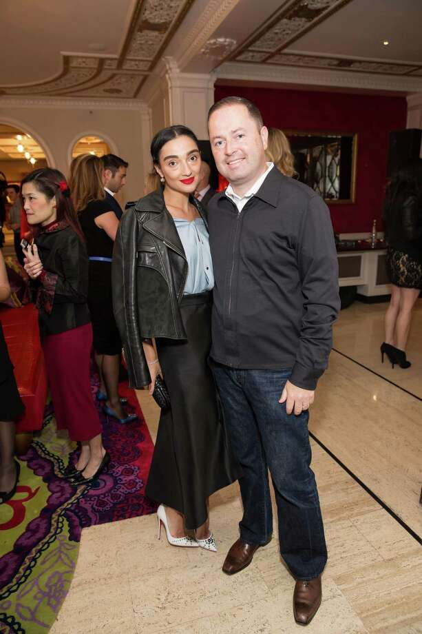 Olya Dubrovsky and Edward Dubrovsky at the debut party of The Scarlet Huntington in San Francisco on May 22, 2014. Photo: Drew Altizer, Drew Altizer Photography / Drew Altizer Photography