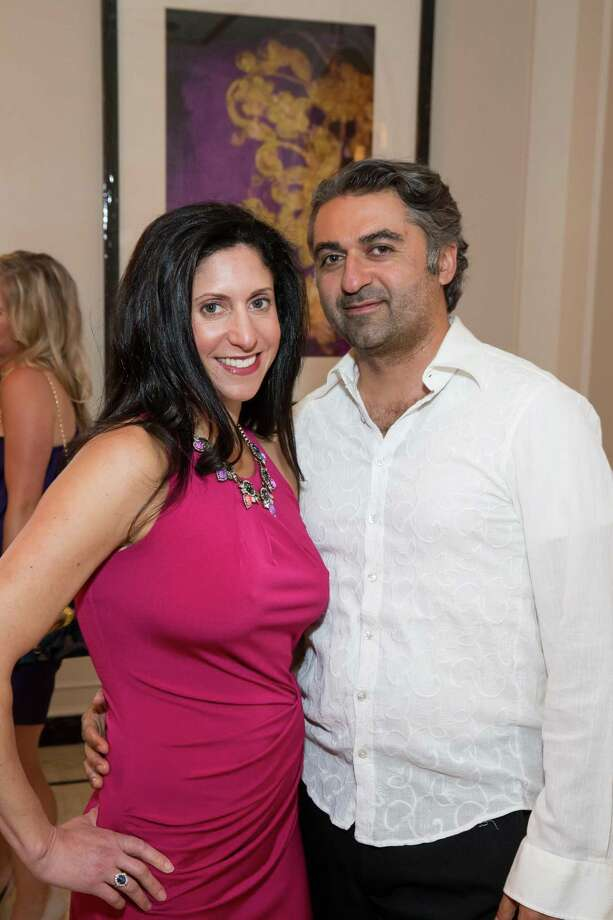 Crystal Brown and Hooman Khalili at the debut party of The Scarlet Huntington in San Francisco on May 22, 2014. Photo: Drew Altizer, Drew Altizer Photography / Drew Altizer Photography