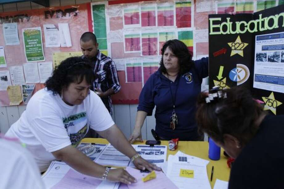 """Are the parents at your school engaged in their children's education?""""The school never reaches out. Parent liaison positions were cut. There used to be paid parents and community members to support those goals but the district would rather beef up central administration."""" Photo: Lea Suzuki, The Chronicle"""