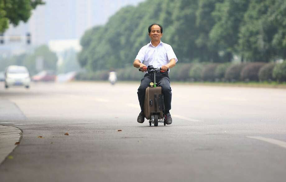 But will it fit in the overhead bin? For 10 years, Chinese farmer He Liangcai has been working to perfect his 