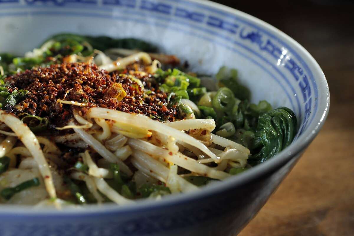 The Noodles with Sizzing Oil served at the Terra Cotta Warrior in San Francisco, Calif., which serves the food of the Shaanxi Province in China on Wednesday, May 28, 2014.