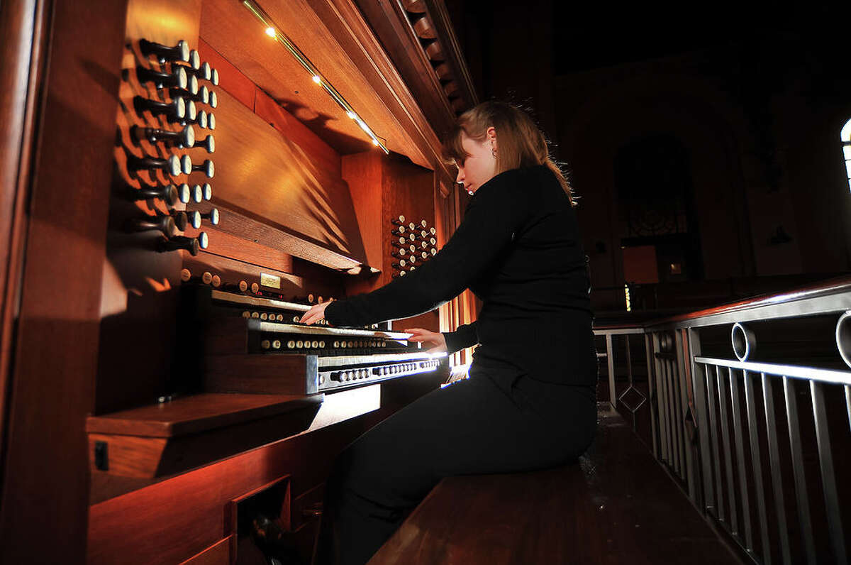 Katelyn Emerson, the 2013 winner of the M. Louise Miller Scholarship in organ studies, will give a short recital Sunday, June 8, at the Cathedral of St. Augustine in Bridgeport.