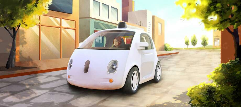 A rendering of Google's latest version of its driverless car. Photo: Associated Press