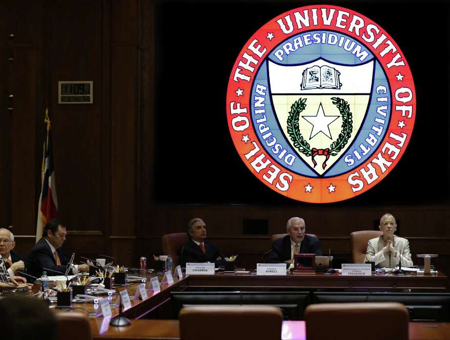 The University of Texas Board of Regents, shown in 2012, still listens to the wishes of state leaders, but the state is only funding 25 percent of Texas' higher education budget. Public universities are being shortchanged by political leaders. Photo: Eric Gay / Associated Press / AP