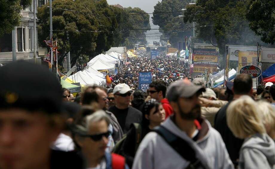 June 8, Haight-Ashbury Fair: The 34th annual event this year has two stages of live music, vendors, a children's alley, food and more. Website. Photo: Brant Ward, The Chronicle