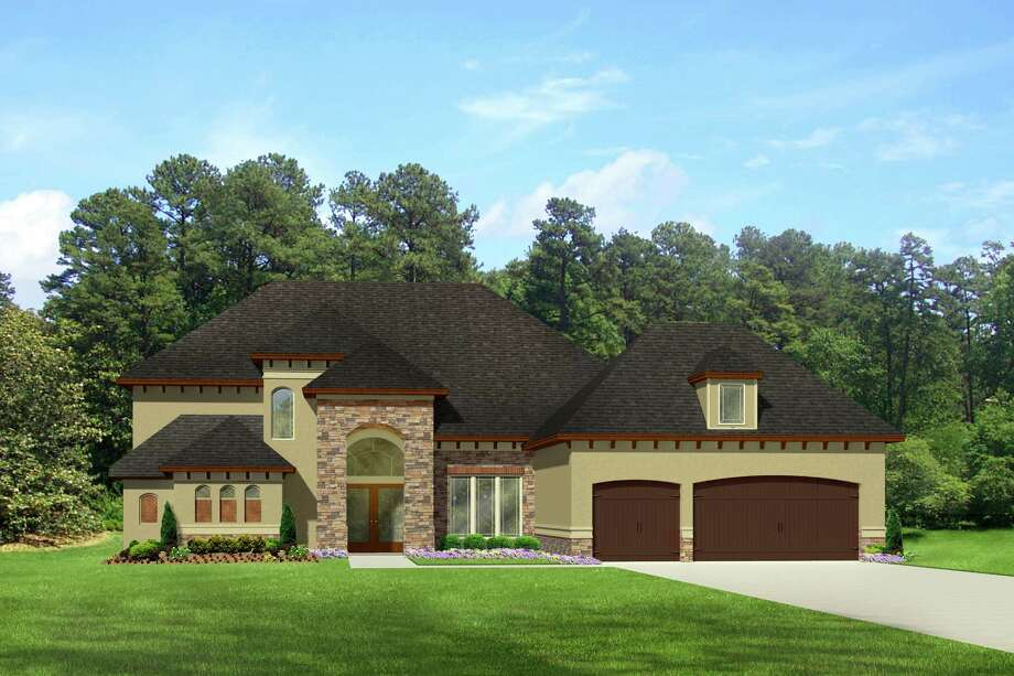 Virgin Homes built its Charleston plan in the Conroe community of WaterStone. The two-story design has numerous upgrades and amenities.