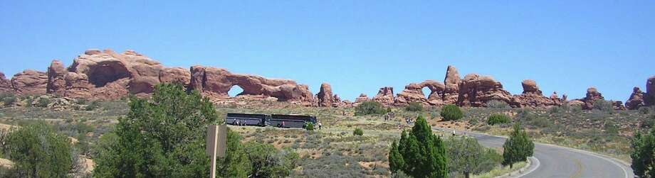 The North and South Windows (above, from left) in Arches National Park, near Moab, Utah, were carved by time and nature.  The park was named a national monument in 1929 and a national park in 1971.