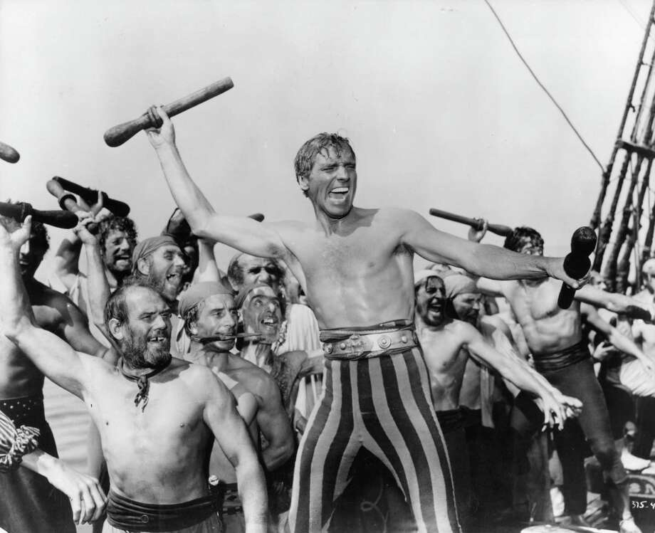 Burt Lancaster and other men in a scene from the film 'The Crimson Pirate', 1952. Photo: Archive Photos, Getty / 2011 Getty Images