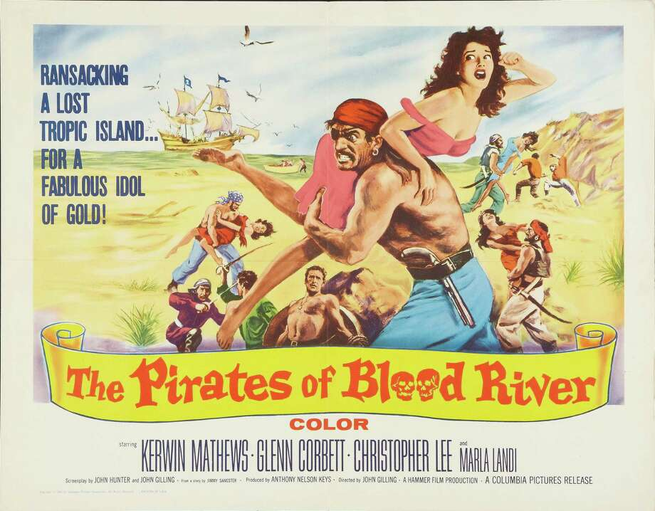 Poster for the film 'The Pirates of Blood River' (directed by John Gilling), 1962. Photo: Buyenlarge, Getty / Moviepix