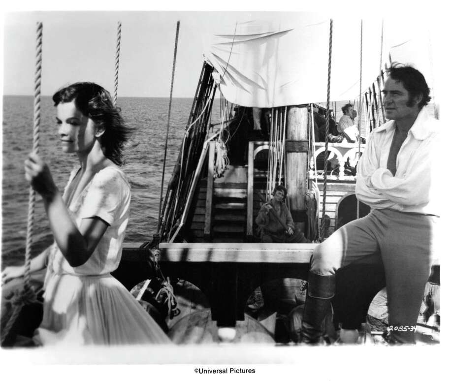 "Actress Genevieve Bujold and actor Robert Shaw in a scene from the Universal Pictures movie  ""Swashbuckler"" circa 1976. Photo: Michael Ochs Archives, Getty / 2013 Getty Images"