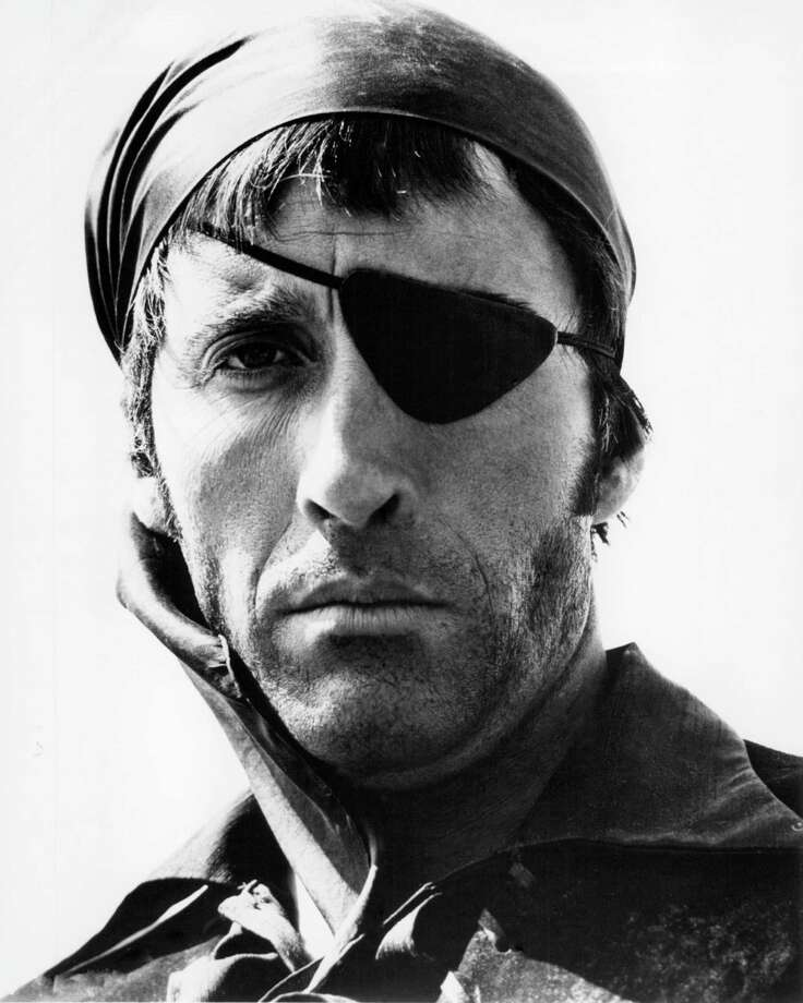 English actor Christopher Lee wearing an eye patch as Captain LaRoche in 'The Pirates Of Blood River', directed by John Gilling, 1962. Photo: Silver Screen Collection, Getty / 2012 Silver Screen Collection