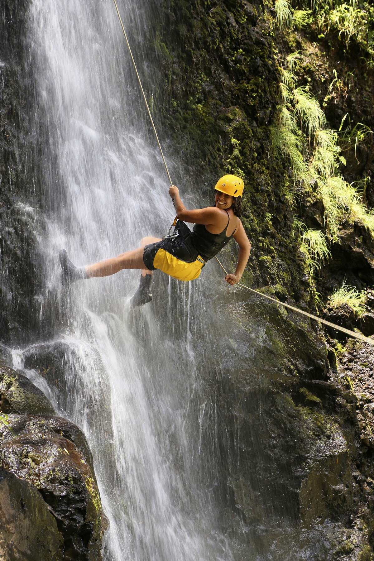 Walk on waterfalls: Rappel Maui has brought the sport of canyoneering, also known as abseiling, to Hawaii. Rappel down two waterfalls - 50 feet and 30 feet tall - in a privately owned valley (seen in the original