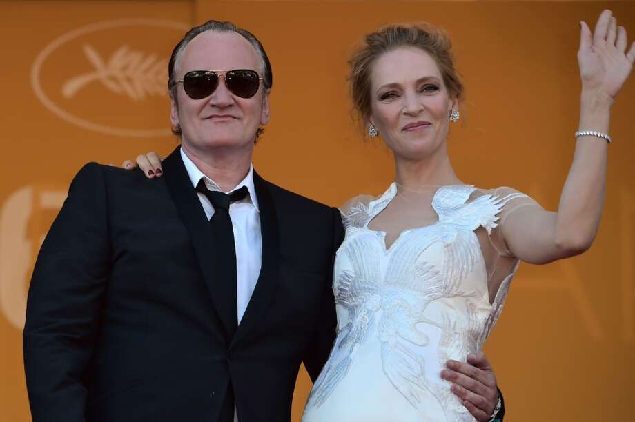 US director Quentin Tarantino and US actress Uma Thurman pose as they arrive for the Closing Ceremony of the 67th edition of the Cannes Film Festival in Cannes, southern France, on May 24, 2014. Photo: BERTRAND LANGLOIS, AFP/Getty Images