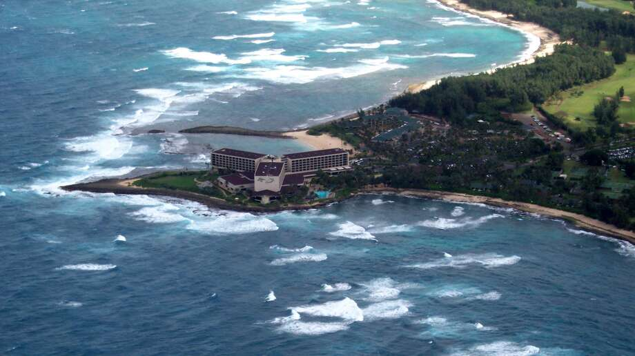 Saving the bay: The new conservation easement covering nearly 670 acres of undeveloped lands owned by Turtle Bay Resort on Oahu's North Shore – about 80 percent of the property --  limits future growth near the existing hotel, which recently upgraded fixtures and furnishings in its 410 rooms and focuses on the local culture of surfing and farming. Photo: Jeanne Cooper, SFGate