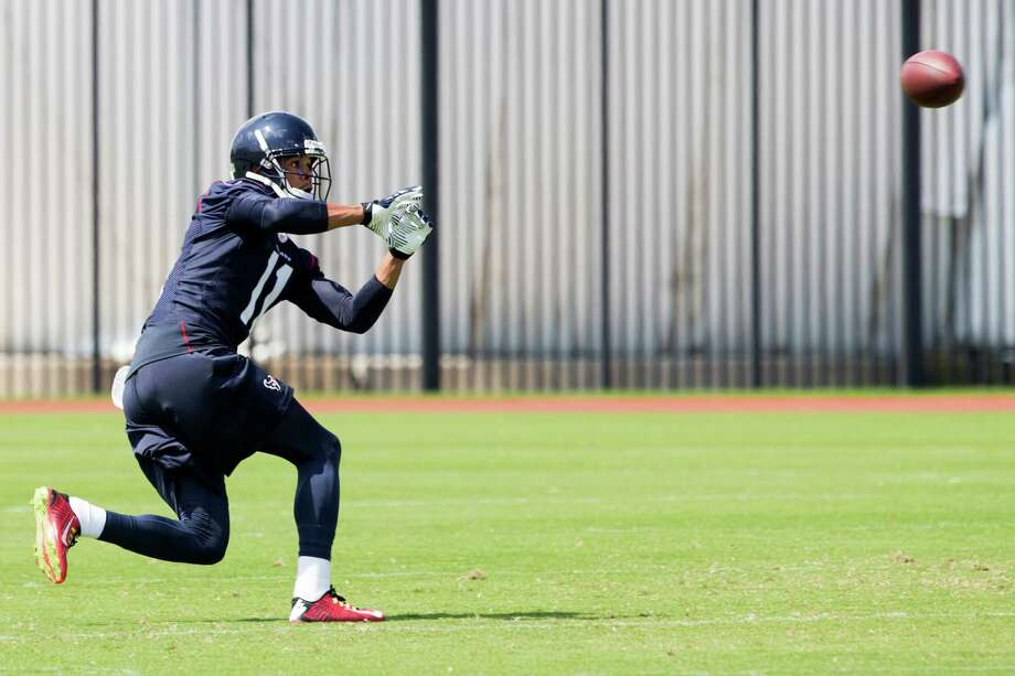 Third-year wide receiver DeVier Posey was singled out by coach Bill O'Brien as having made an impression during the Texans' first week of organized team activities. Photo: Brett Coomer, Staff / © 2014 Houston Chronicle