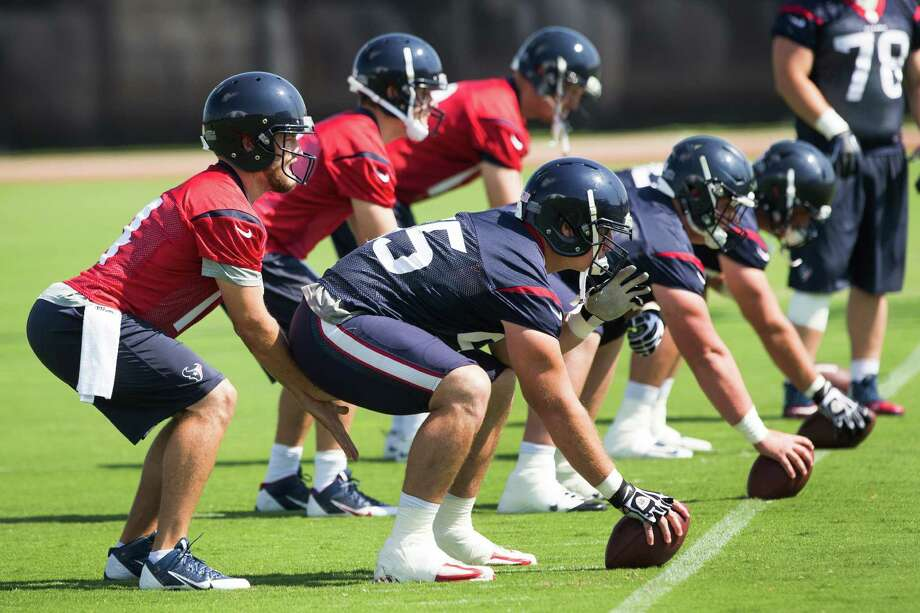 Veteran Ryan Fitzpatrick, left, finds himself in a hotly contested battle for the Texans' starting quarterback job. Photo: Brett Coomer, Staff / © 2014 Houston Chronicle