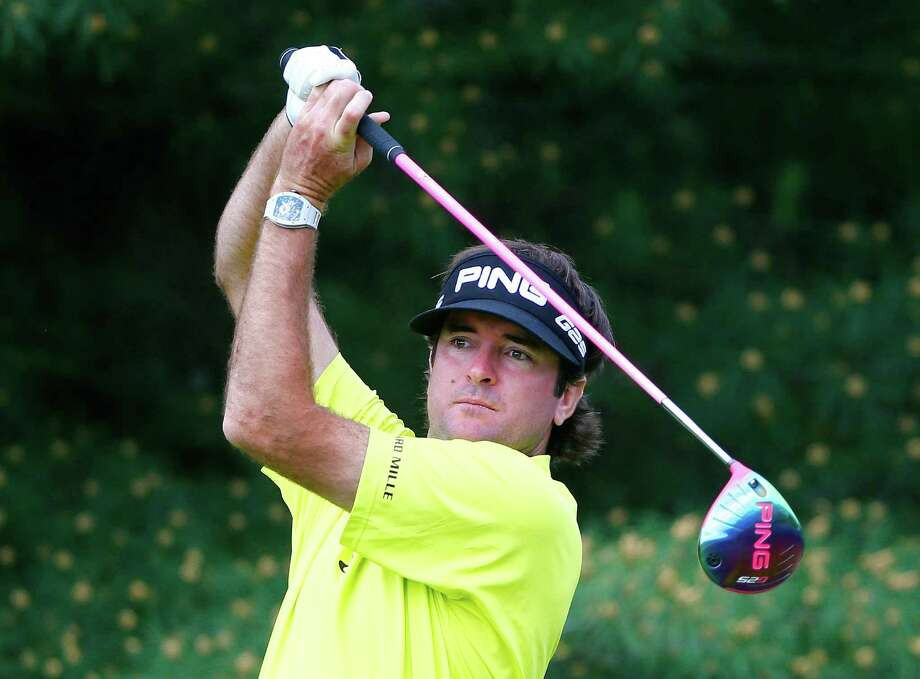 Bubba Watson, teeing off on No. 17 at the Memorial, was among a group of three that finished with a 6-under 66. Photo: Sam Greenwood / Getty Images / 2014 Getty Images