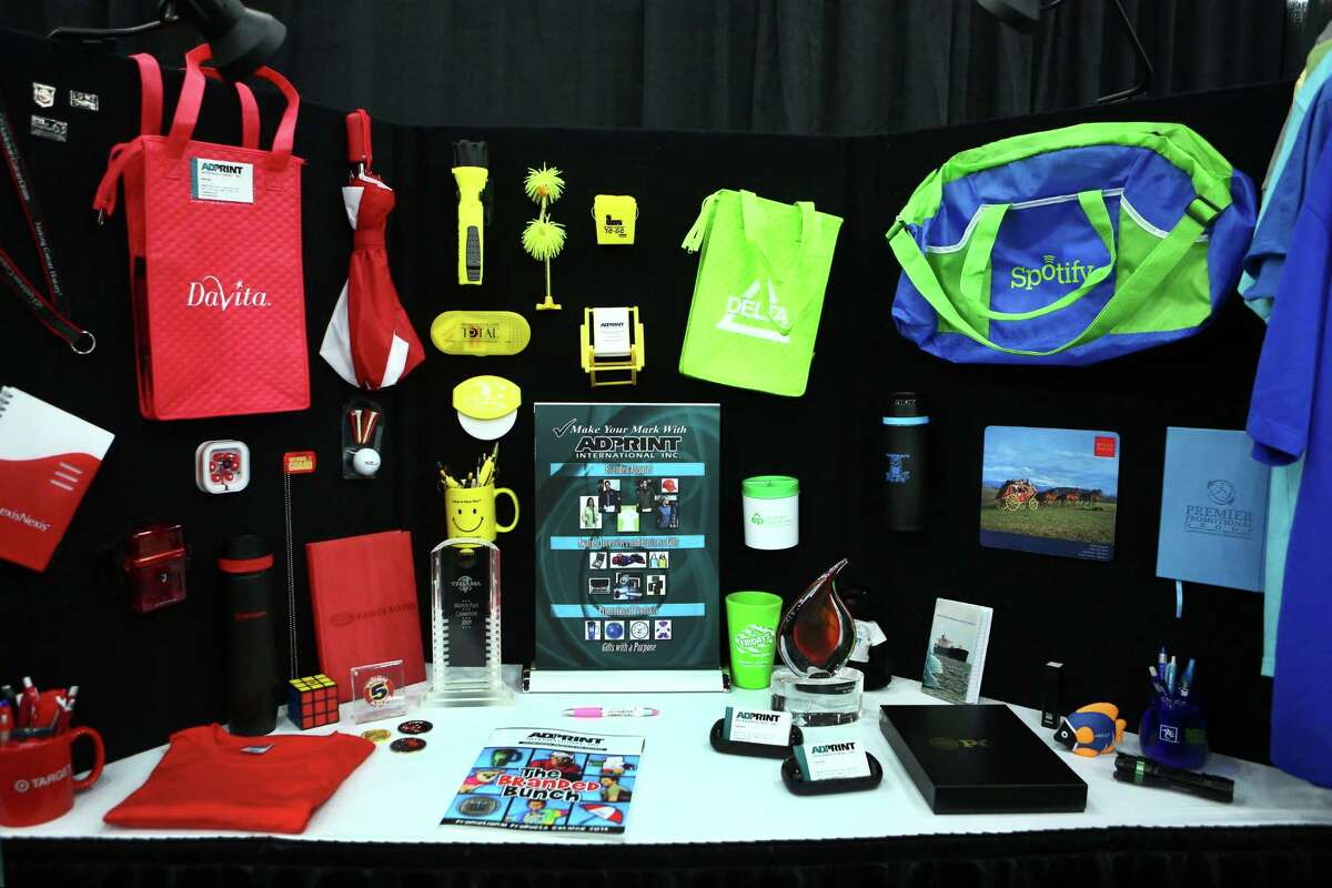 Adprint International, which customizes promotional items, had a booth at the Women's Business Enterprise Alliance Business Expo.
