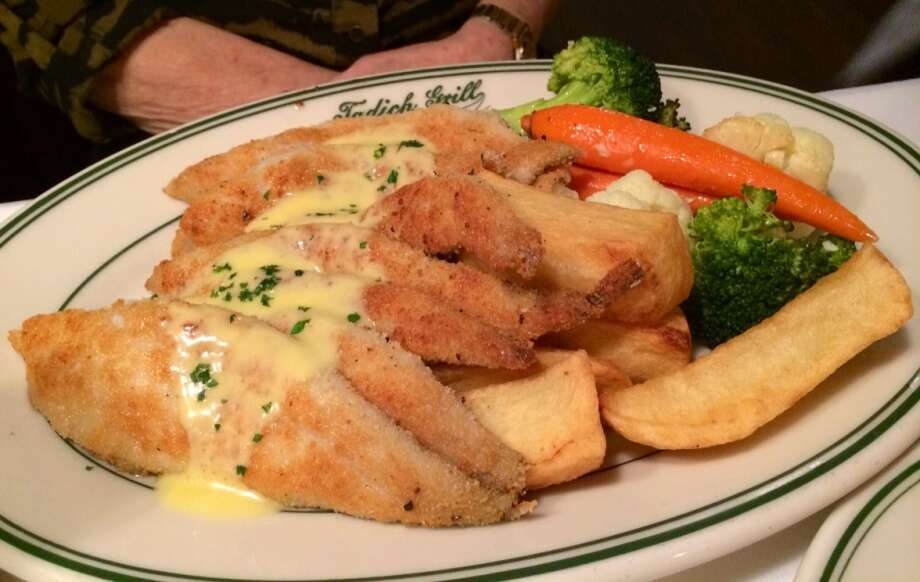 Tadich Grill:  Classic pan-fried sand dabs, a portion big enough for two ($23.95)