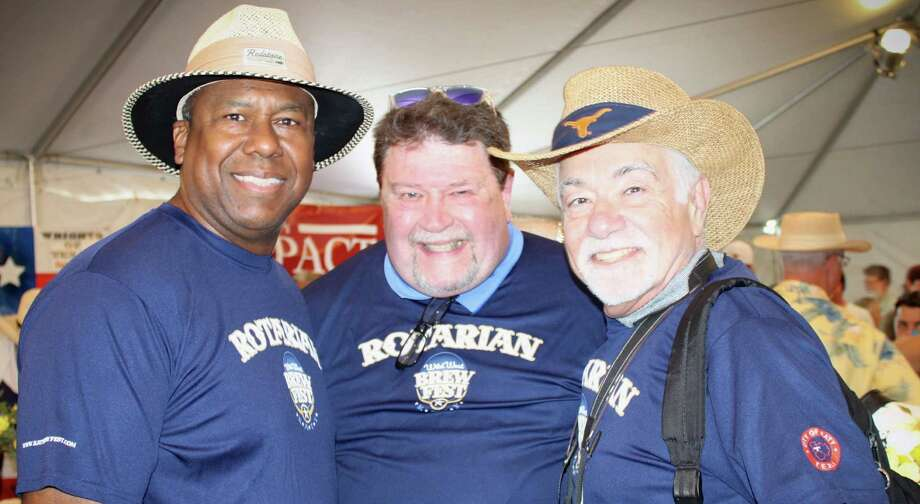 Katy Rotarians Alton Frailey, Richard White and David Frishman volunteered at the third annual Wild West Brewfest at Villagio Town Center. Photo: Wild West Brewfest