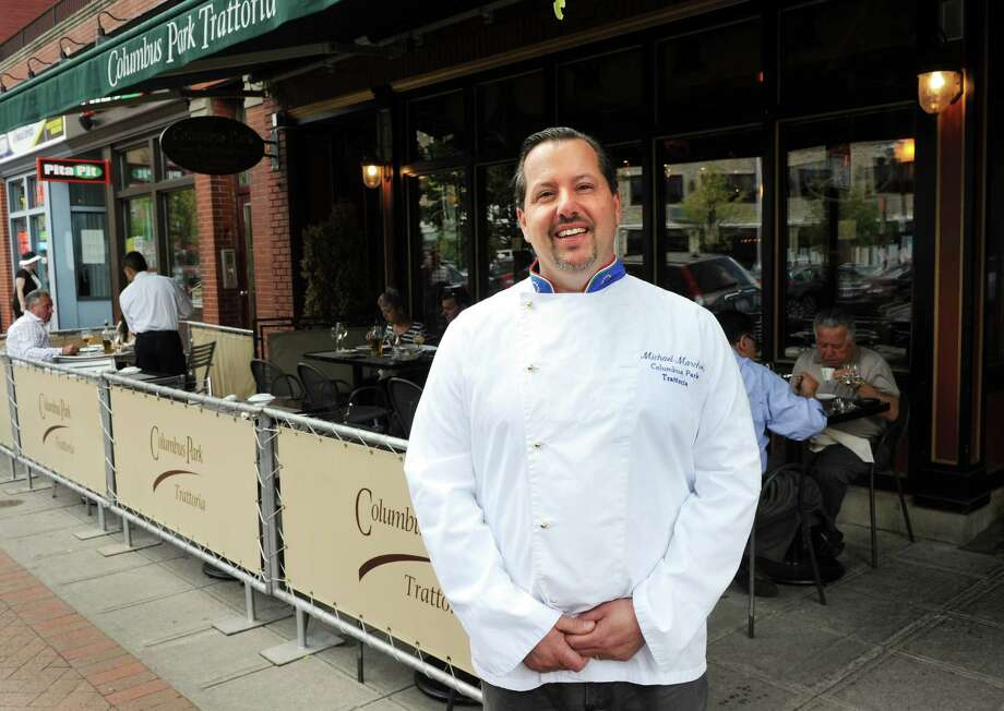 Michael Marchetti, owner of Columbus Park Trattoria (Stamford), Osteria Applausi (Old Greenwich), and Tarantino Restaurant (Westport) at Columbus Park Trattoria on Friday May 30, 2014. Photo: Dru Nadler / Stamford Advocate Freelance