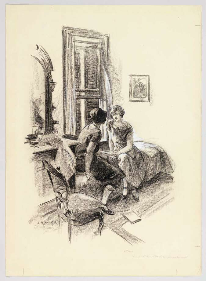 "Edward Hopper (1882-1967), ""'I'm afraid,' she said, looking at me straightly now,"" 1924. (Norman Rockwell Museum) Photo: Robert Gerhardt And Denis Y. Sus / Digital Image © Whitney Museum of American Art"