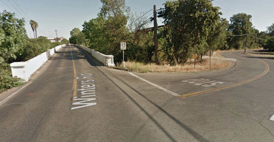 Putah Creek Road and Railroad Avenue, Winters, CA Photo: Google Maps