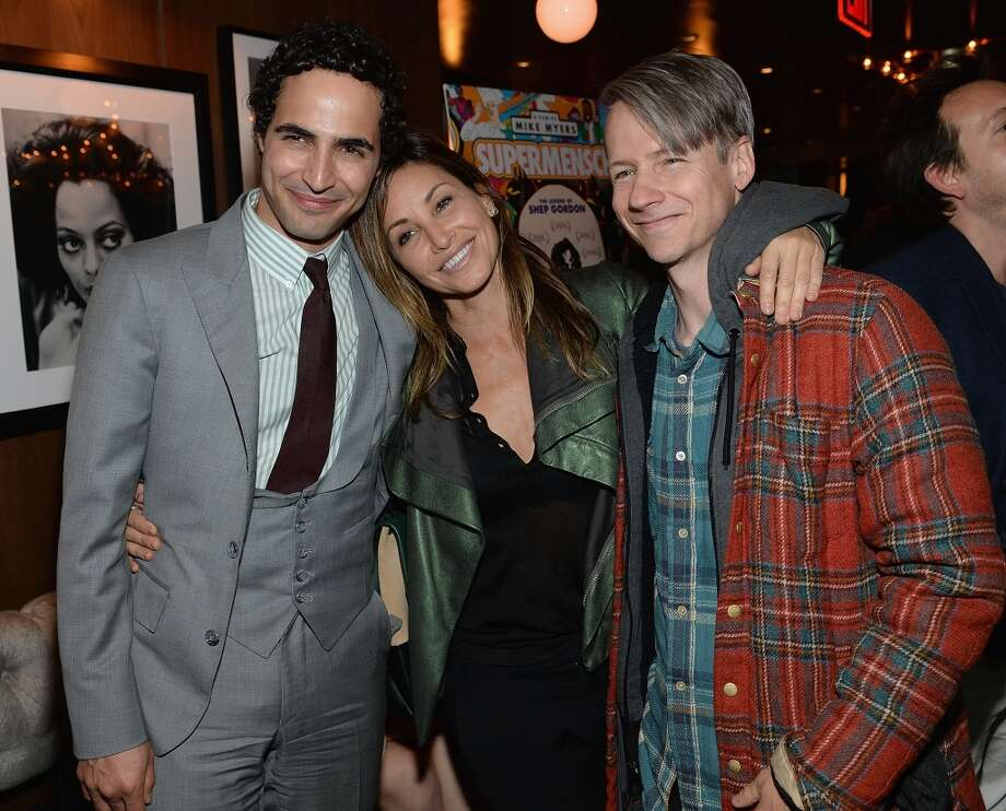 "Zac Posen, Gina Gershon and John Cameron Mitchell attend the ""Supermensch: The Legend Of Shep Gordon"" screening at The Wayfarer on May 29, 2014 in New York City. Photo: Dimitrios Kambouris, Getty Images"