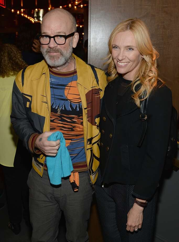 "Michael Stipe and Toni Collette attend the ""Supermensch: The Legend Of Shep Gordon"" screening at The Wayfarer on May 29, 2014 in New York City. Photo: Dimitrios Kambouris, Getty Images"