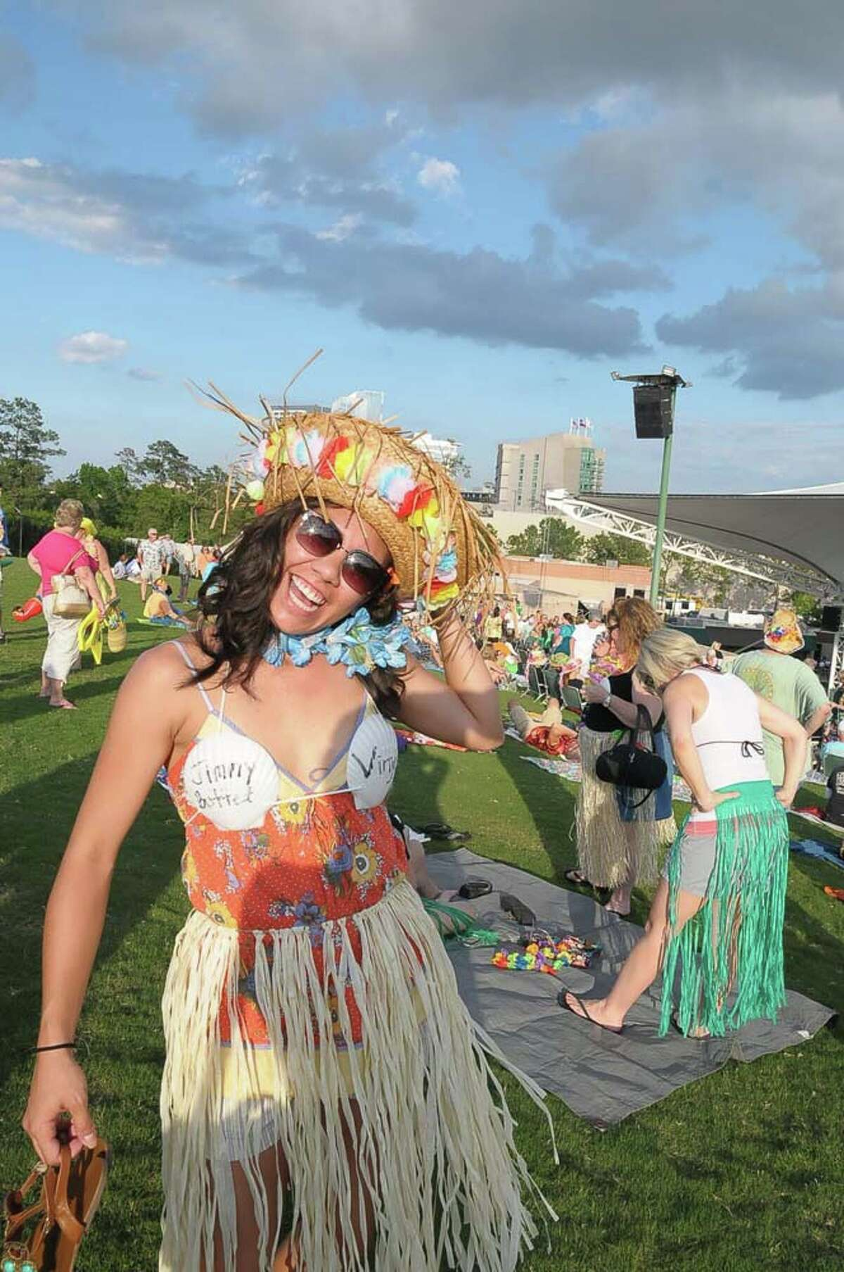Jimmy Buffett fans dress up in their finest for his show at Cynthia Woods Mitchell Pavilion in The Woodlands Thursday May 29, 2014. Photo by Tony Bullard.