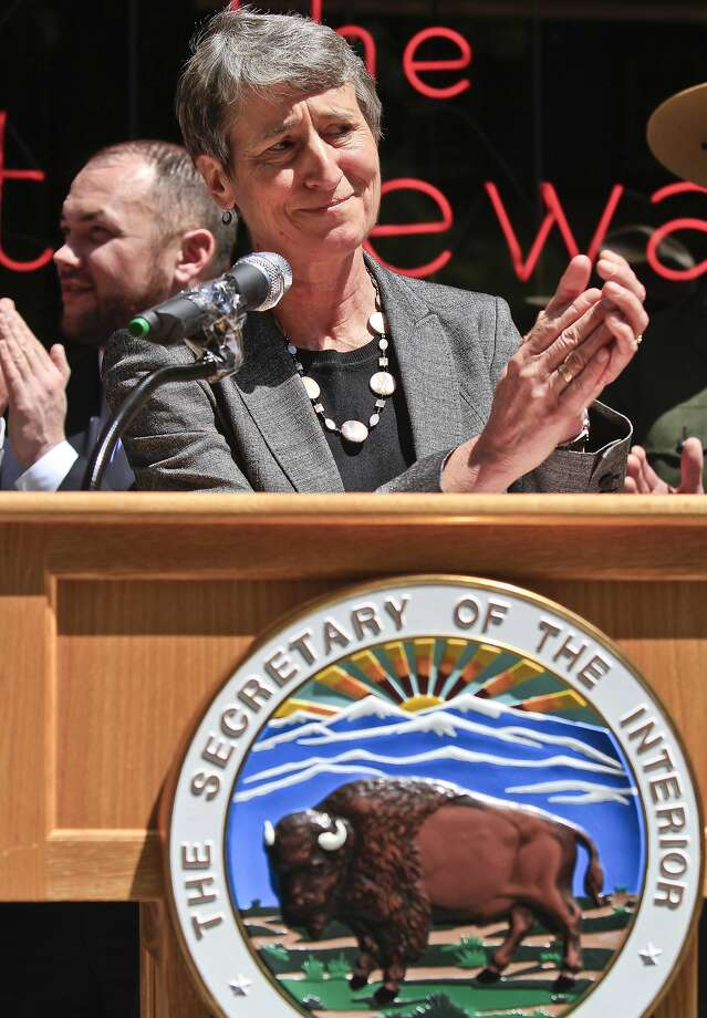 Interior Secretary Sally Jewell announces the new program. Photo: Bebeto Matthews, Associated Press