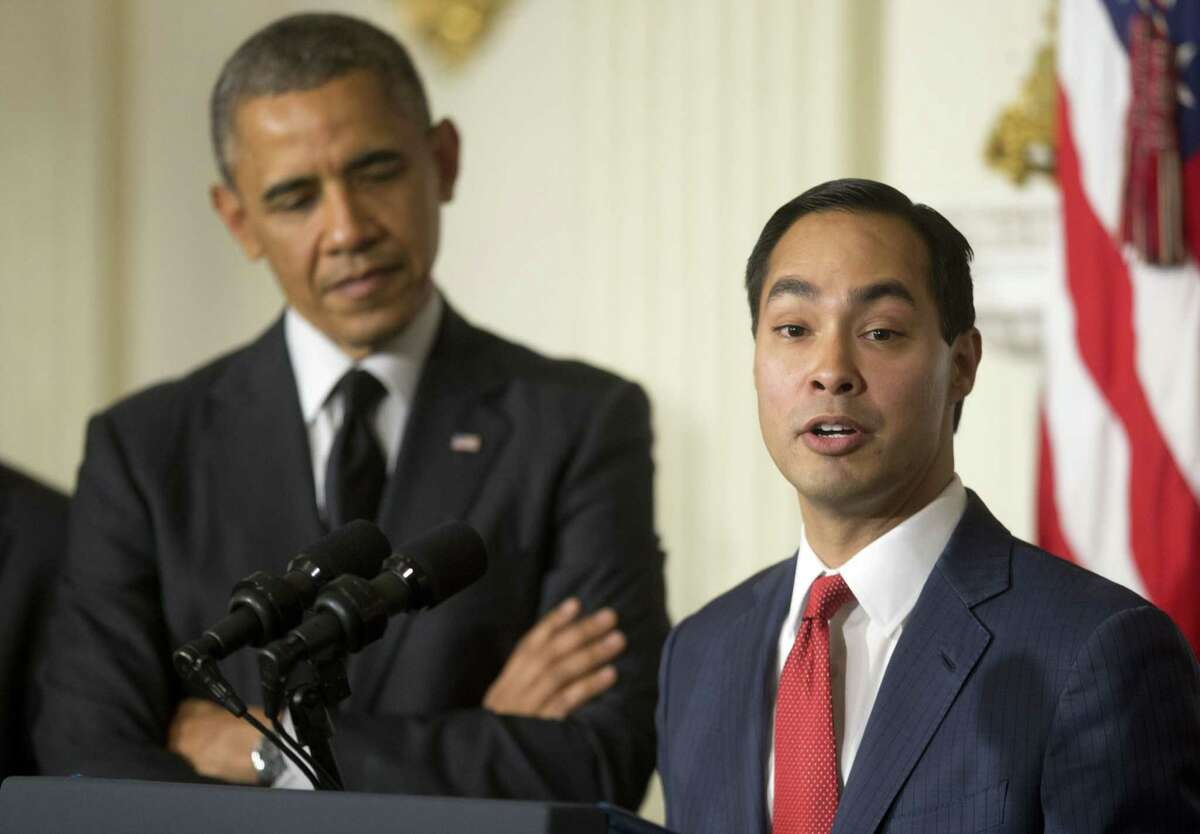 President Barack Obama (left) listens to San Antonio Mayor Julián Castro after announcing the nomination of Castro to lead the Department of Housing and Urban Development (HUD). A reader asks what kind of experience Castro has to hold such an office.