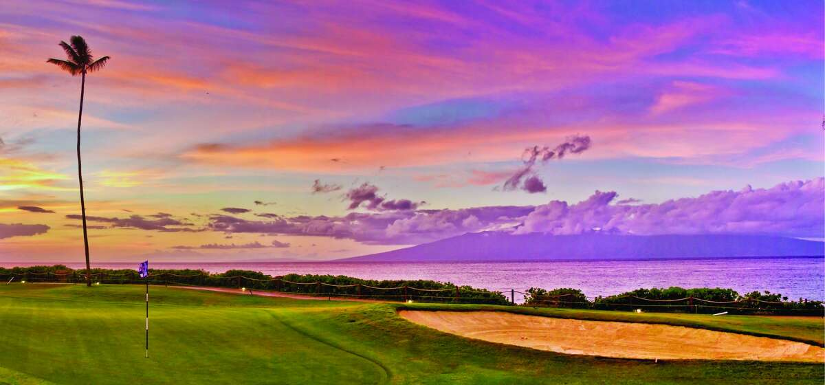 Linking up: Couples don't have to be golfers to appreciate the new wedding venue at the Sheraton Maui Resort & Spa. The hotel's
