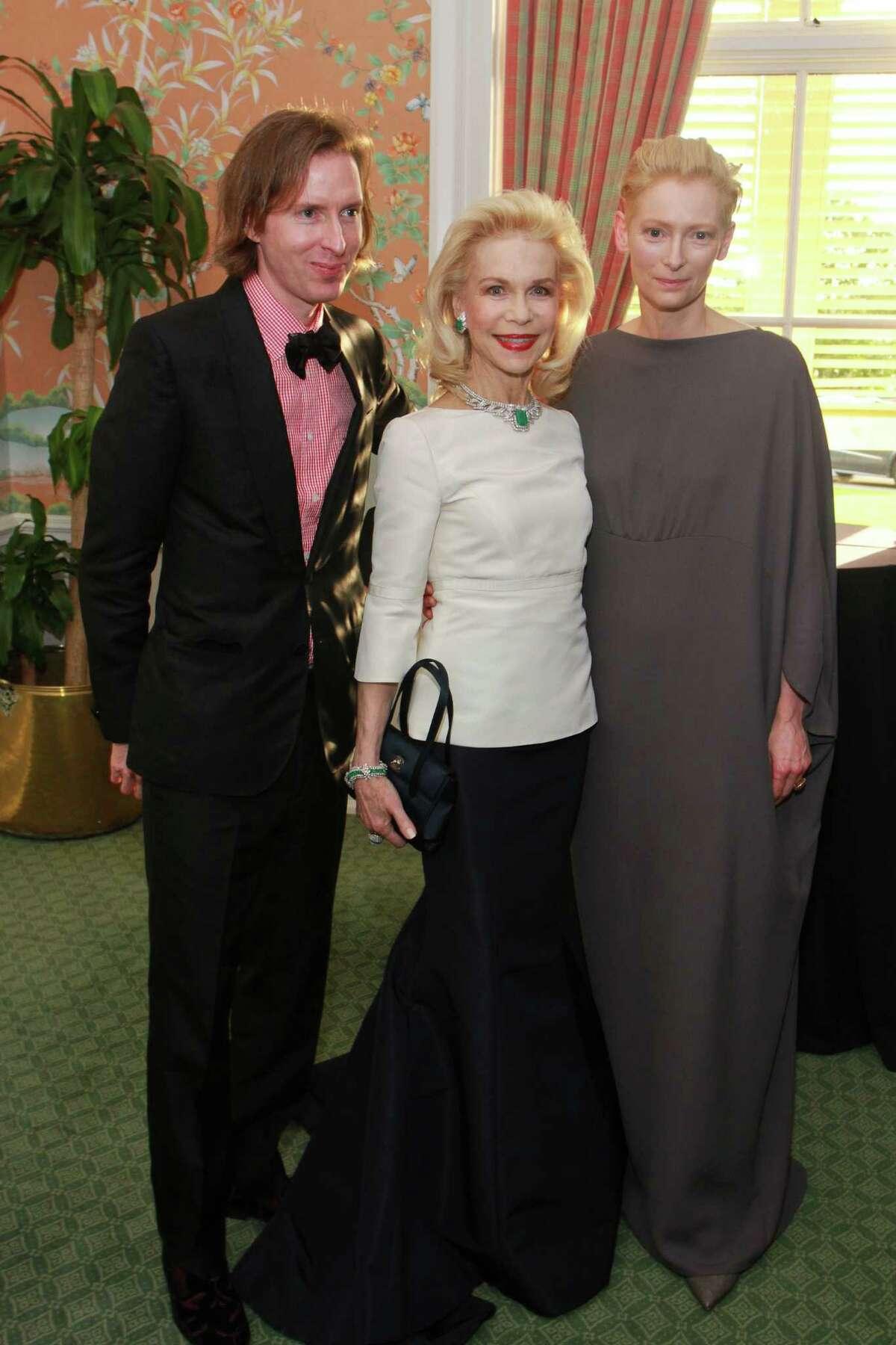 Wes Anderson, from left, Lynn Wyatt and Tilda Swinton