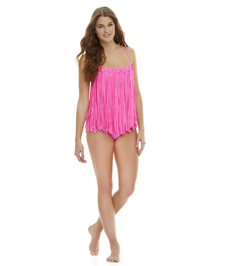 FRINGE: Coco Rave Fringy Mio One-Piece Swimsuit, $86, at Dillard's Photo: Dillard's / ONLINE_YES