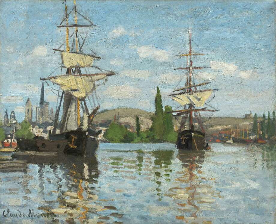"Claude Monet's ""Ships Riding on the Seine at Rouen"" will be on view at the Museum of Fine Arts, Houston in October for the exhibition ""Monet and the Seine."" Photo: National Gallery Of Art / ONLINE_YES"