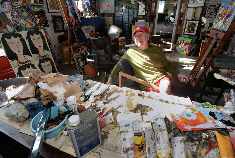 Purchased 12 years ago, Delle Bates renovated the Reliable Cleaners on Front Avenue in Orange and converted the structure into his home and art studio. Bates said he has watched downtown grow into a quieter area since moving in.  Photo taken Thursday March 15, 2014 Guiseppe Barranco/@spotnewsshooter Photo: Guiseppe Barranco, Photo Editor