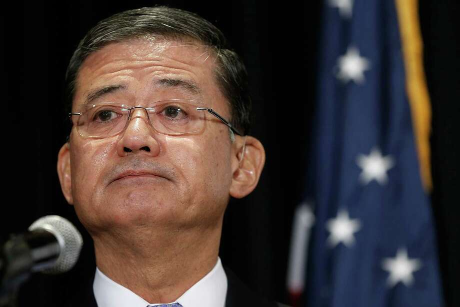 WASHINGTON, DC - MAY 30:  U.S. Secretary of Veterans Affairs Eric Shinseki addresses the National Coalition for Homeless Veterans May 30, 2014 in Washington, DC. Shinseki is under bipartisan pressure to resign in the wake of an unfolding scandal following a report by the inspector general's office. Photo: Win McNamee, Getty Images / 2014 Getty Images